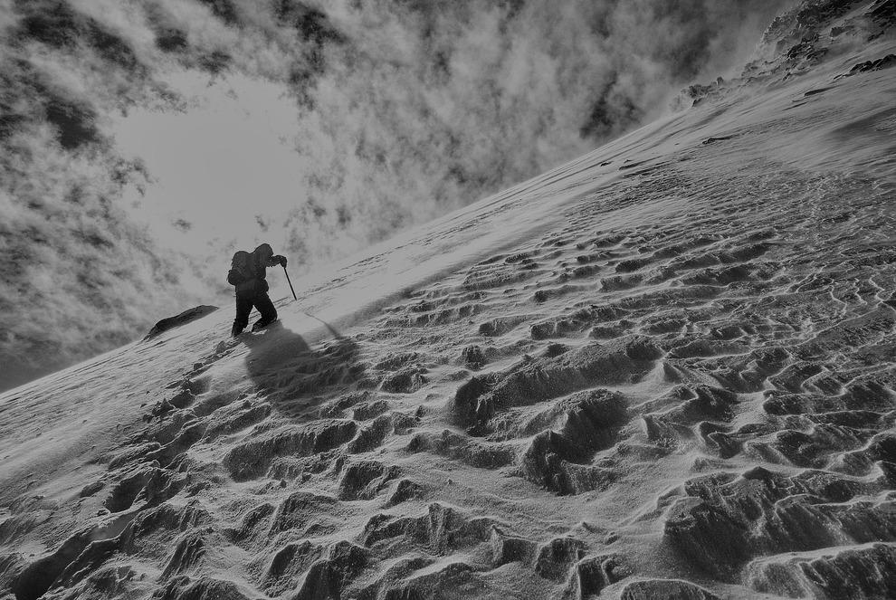 Hiking Snowy Mountain