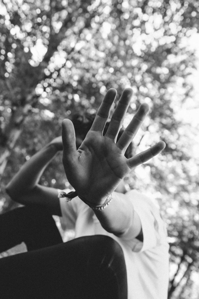 Talk to the Hand B&W