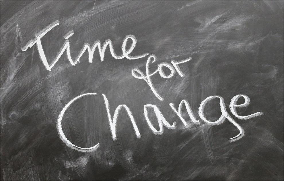 Time for Change Chalkboard