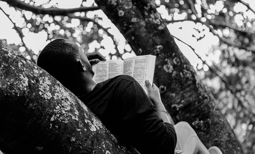 Man reading self-care